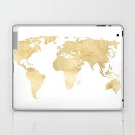 Gold World Map Laptop & iPad Skin