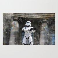 storm trooper Area & Throw Rugs featuring Storm Trooper by BuyArt