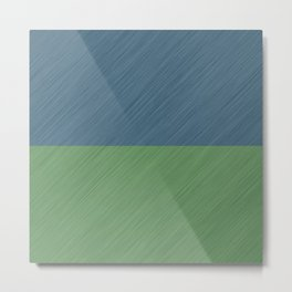 Abstract blue, green art - a simple striped pattern Metal Print