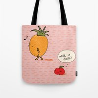 punk Tote Bags featuring Punk by Peach it!