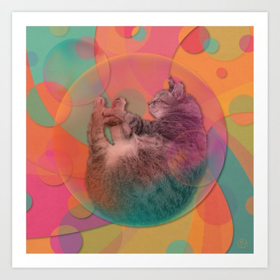 Kitty Cat Sweet Dream Art Print