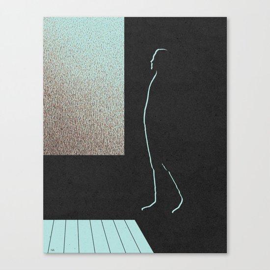 Dark Interior/Raining Outside Canvas Print