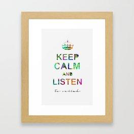 Listen To Sellah  Framed Art Print