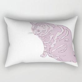 Blush Kitty Rectangular Pillow