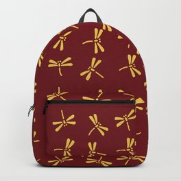 Japanese Dragonflies - Crimson and Gold Backpack