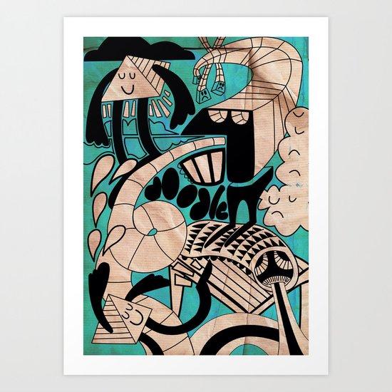 lovely doodles Art Print
