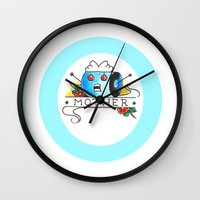mother Wall Clocks featuring Mother  by Christopher Chouinard