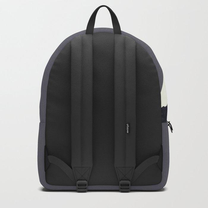 Contemporary Minimalistic Black and White Art Rucksack