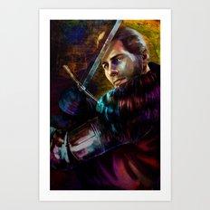Knight Captain turned Advisor Art Print