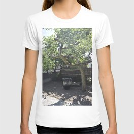 Japanese Pottery Under A Green Apple Tree T-shirt