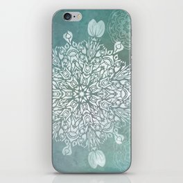 Turquoise Batik Mandala Float iPhone Skin