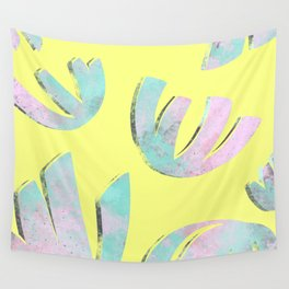 flora pattern no.1 / bright yellow Wall Tapestry