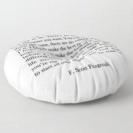 F.scott - for what Floor Pillow