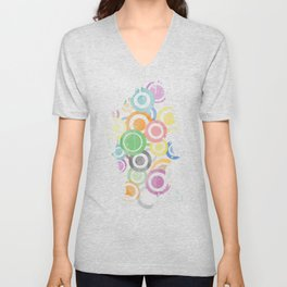 Full Circles Colorful. Ccool and funny Design Unisex V-Neck