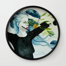 Lazer  leaves Wall Clock