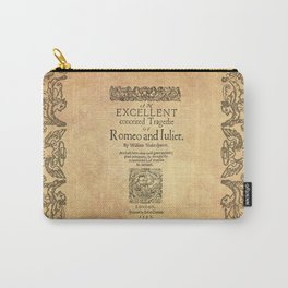 Shakespeare, Romeo and Juliet 1597 Carry-All Pouch