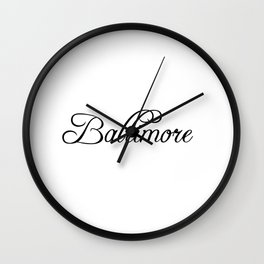 Baltimore Wall Clock