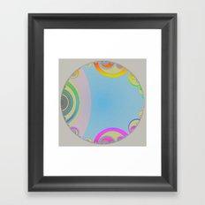 Graphic Bubble Framed Art Print