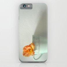 Tangerine Dream ~ orange flower ~ aqua  iPhone 6s Slim Case