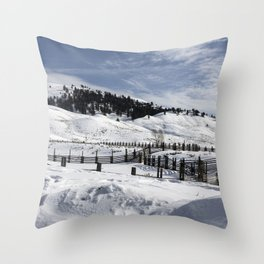 Carol M Highsmith - Snow Covered Hills Throw Pillow
