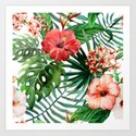Tropical Floral Watercolor Var. 5 by boho_rhapsody