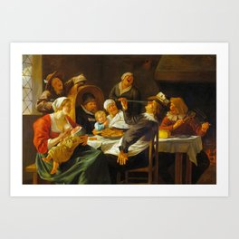 Jan Steen - The Twelfth Night Feast Art Print