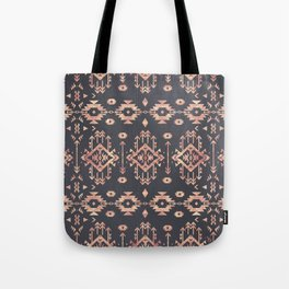 Trendy tribal geometric rose gold pattern Tote Bag