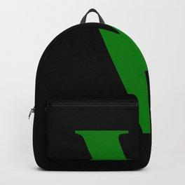 V MONOGRAM (GREEN & BLACK) Backpack