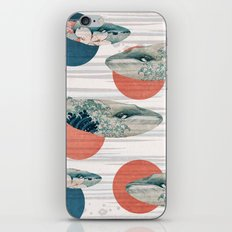 Whales and Polka Dots iPhone & iPod Skin