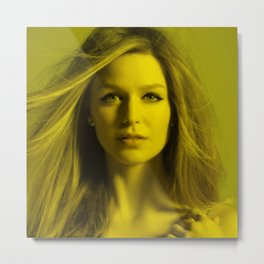Melissa Benoist - Celebrity (Florescent Color Technique) Metal Print