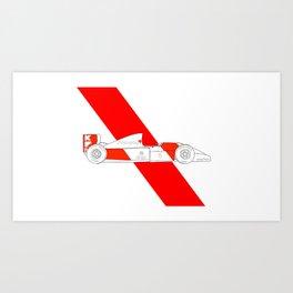 McLaren MP4/8 - Trailing Liveries Art Print