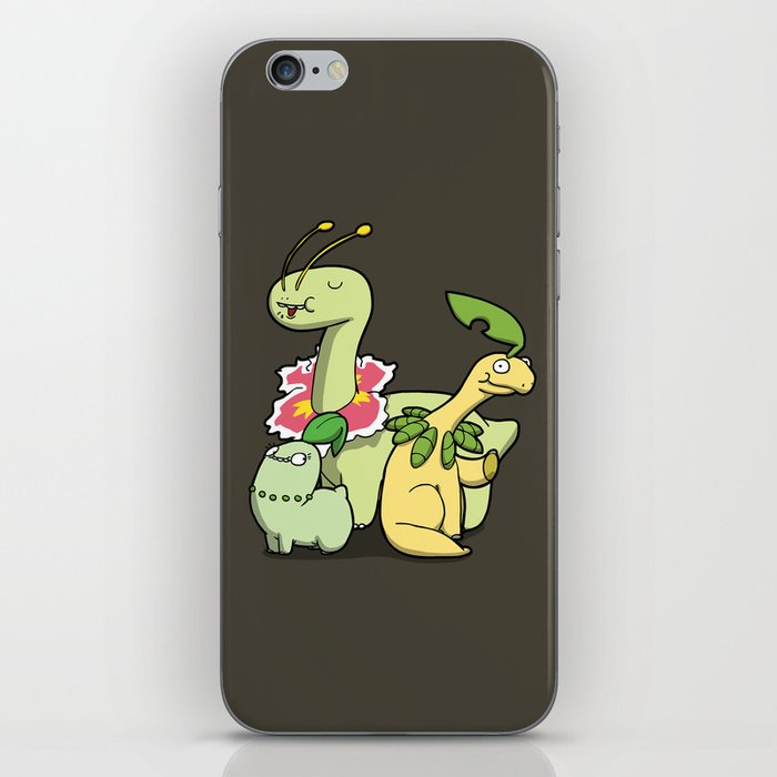 Pokémon - Number 152, 153 & 154 iPhone Skin