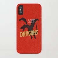 dragons iPhone & iPod Cases featuring Dragons by WEAREYAWN