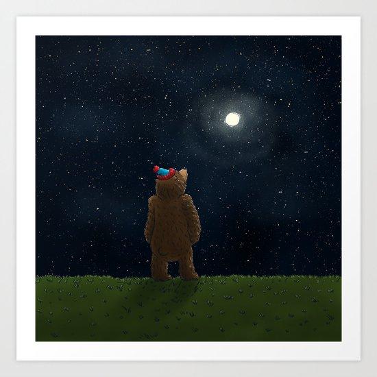 Starry Night Novembear Art Print