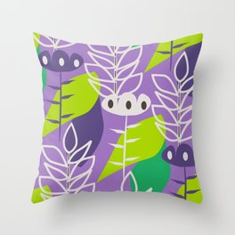 Floral style in purple Throw Pillow