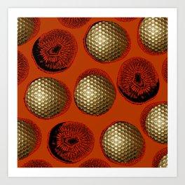 ORANGE RED GOLD Art Print