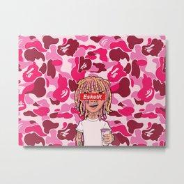 Lil Pump Esketit Bape Metal Print