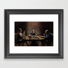 """These are great green beans, Mrs White"" Framed Art Print"