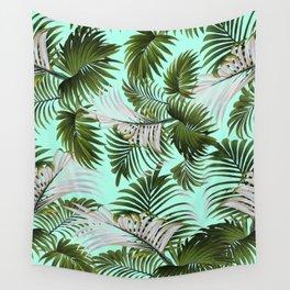 Tropical Leaf Pattern II Wall Tapestry
