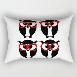 Owls with Glasses Rectangular Pillow