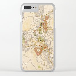 Map of Canberra 1927 Clear iPhone Case