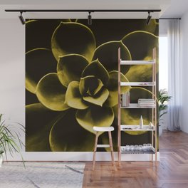 Succulent Plant In Olive Color #decor #society6 #homedecor Wall Mural
