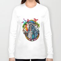 elf Long Sleeve T-shirts featuring Celtic elf by Raquel C. Hita - Sednae