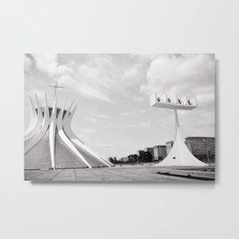 Brasilia's Cathedral   Niemeyer Architect Metal Print
