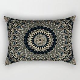 Gold Filigree Mandala Rectangular Pillow