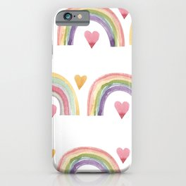Rainbows & Hearts iPhone Case