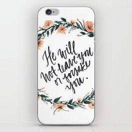 Deuteronomy 31:6 with Wreath iPhone Skin