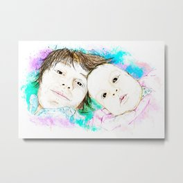 Julian and Valentina Metal Print