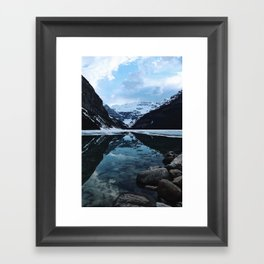 Lake Louise at sunset Framed Art Print