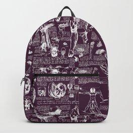 Da Vinci's Anatomy Sketchbook // Blackberry Backpack